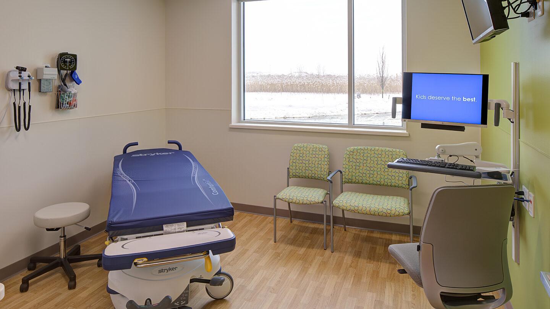 Childrens Wisconsin Kenosha Patient Room